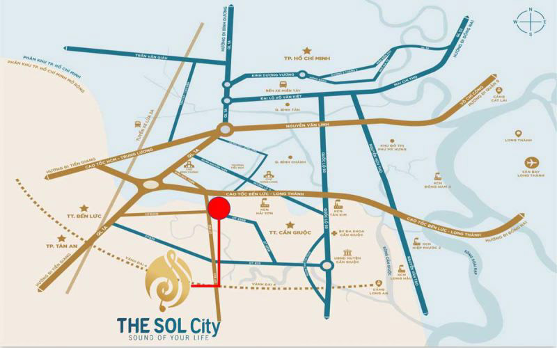 vi tri du an the sol city thang loi